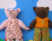 Teddy Bear Sewing Pattern - Easy Plush Bear Pattern - with Clothes - PDF instant download