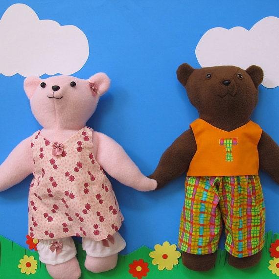 Teddy Bear Sewing Pattern Easy Plush Bear Pattern with
