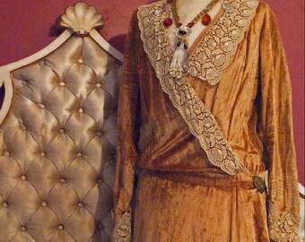 VELVET 1920s Baby Jane Dress Edwardian Flapper as found