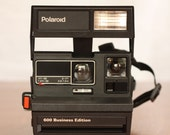 Vintage Polaroid 600 Business Edition Instant Camera with original box, camera bag, manual