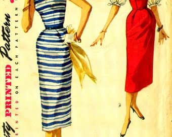 Simplicity 1085 - circa 1955 Dress or Jumper and Blouse with PUFFY BALLOON Sleeves