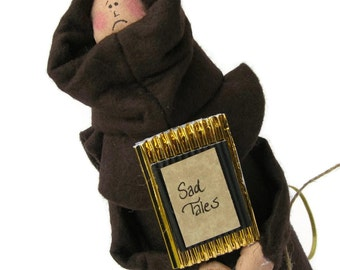 Monk doll brother Catholic gift-Brother Grim the reader, writer