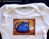 Feeping Creatures Monster onesie - Blue Eep - made to order, any size