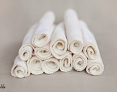 Organic Cotton & Bamboo Washcloth - Velour/Terry - Great for Oil Cleansing Method - set of 3