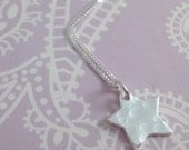Hammered Silver Star Necklace