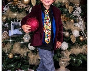 Christmas Snowman Neck Tie Toddler Christmas