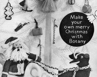 Very Merry Vintage Christmas Ornaments - 1950s Vintage Knitting Pattern Set - PDF eBook