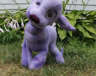 Amat, The Quiet One, a softie dragon sewing pattern, PDF