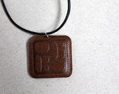 Sale - Pebbles Leather Necklace - Brown