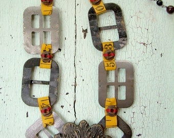 Necklace - Repurposed Vintage - Taxi