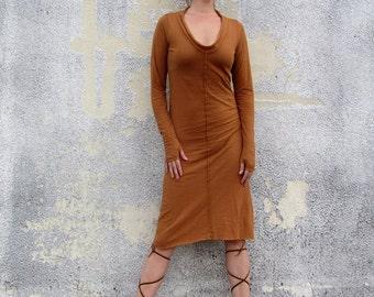 ORGANIC Warrior Simplicity Below Knee Dress (light hemp/organic cotton knit) - organic dress