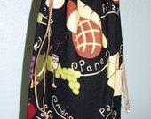 Mangia Wine Bottle Bag - Reversible - Reusable - Drawstring