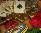 Vintage Las Vegas Poker Casino Game Card Plate Plaque Japan