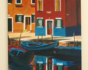 Venician Alleyway 16x20 Fine Art Canvas Print