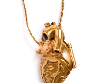 Gold Plated Anatomical Heart Locket