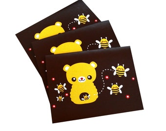 Honey Bear Note Cards - Set of Three