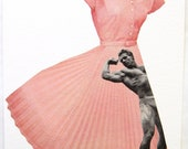 The Macho Chic Dress. An Original Collage