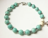 60% Donation to Hurricane Sandy Relief, Amazonite and Lotus Flower Free Shipping in USA