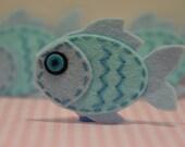 Set of 6pcs handmade felt fish--light windsor (FT946)