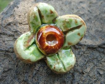 Flower Stoneware Pendant