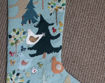 Original needlepoint Christmas stocking