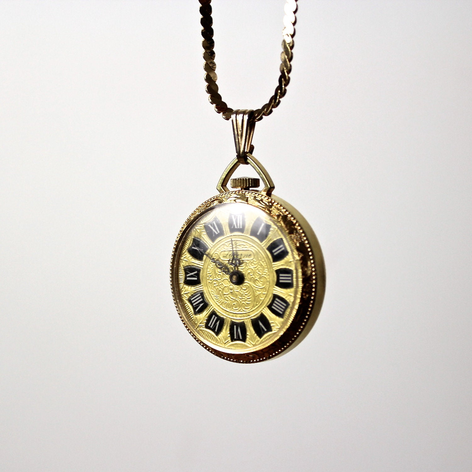 Pocket Watch Necklace Lucerne Watch Necklace