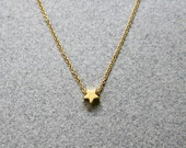 Tiny Gold Star Necklace / North StarNecklace / Wish Upon A Star Necklace