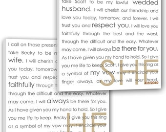 Gift For Holiday She He Word Art wedding phrases Reception art describing  your love Word Art Custom Canvas -THIS listing is for TWO - 18x18