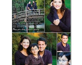 Photo Words Print Art, vows,lyrics Anniversary Wedding Art PRINT ONLY 8x10  unframed print Geezees