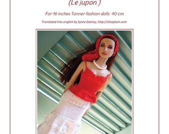 "27.  English and  French INSTANT DOWNLOAD PDF knitting Pattern for 16"" Tonner fashion dolls"