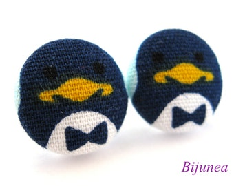 Penguin earrings - Animal earrings -  penguin stud earrings - Penguin studs - Penguin post earrings - Penguin posts sf946