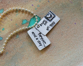 Love Letter Necklace-forever...and a day