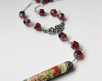 Coronation - Vintage Sheffield Queen Elizabeth II knife necklace