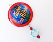 PBR Me ORNAMENT - Pabst, Blue, Ribbon, Glitter, Holiday, Gift, Present, Stocking Stuffer, Under 10, Christmas, Birthday.