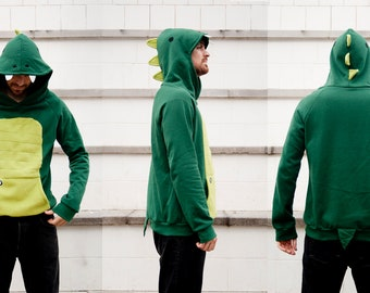 CHILD size 8 years- Last Units - Green Dinosaur Hoodie