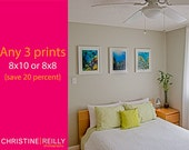 SALE-Three 8x10 or 8x8 Prints of Your Choice, Underwater Photography, Ocean, Fish, Coral Reef and Beach Decor, 8x10 Fine Art Metallic Print