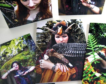 BUY 4 GET 1 FREE  Magical Goddess Pagan Priestess Greeting Cards