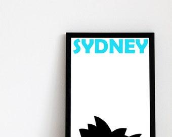 Sydney Print // Australia Print
