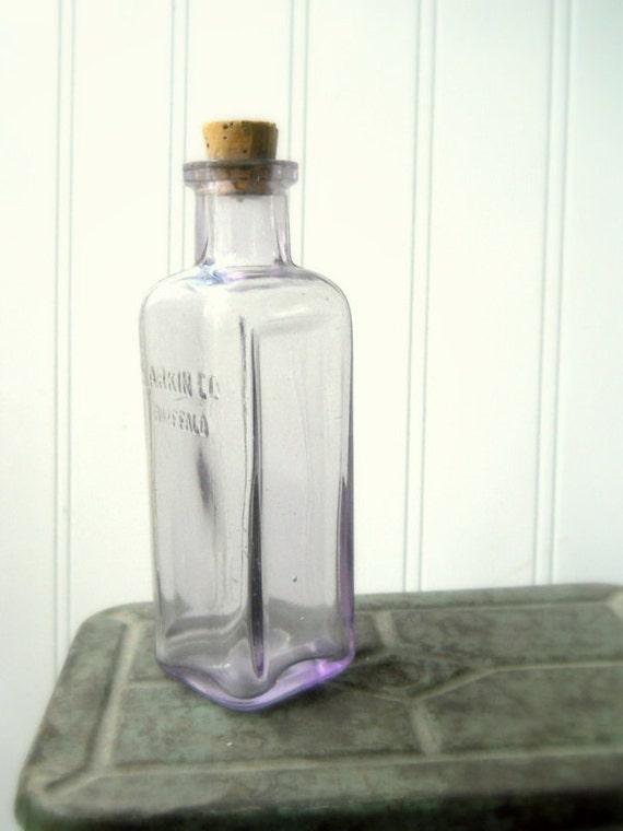 Antique Larkin Bottle Sun Purple Larkin Soap Company Vintage