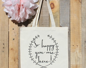 Welcome to our Wedding Gift Tote Bag for Out of Town Guests Hotel Favor
