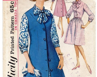 Simplicity 5308 1960s Misses Overdress Jumper and Dress Pattern Mad Men Womens Vintage Sewing Pattern Size 16 Bust 36