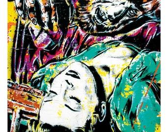 The Wolfman - 12 x 18 High Quality  Pop Art Print