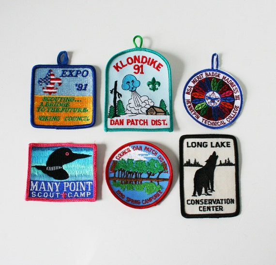 Two Vintage Boy Scout Patches - MN; Klondike 1991 and BSA Merit Badge