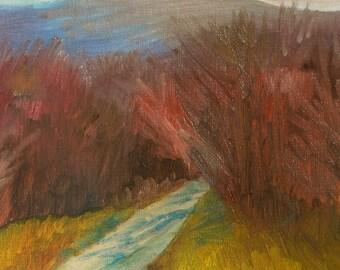 """Original Oil Panting, Landscape, 8""""x10"""", Mountains"""