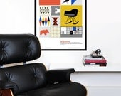 Eames poster print mid century modern kitchen art retro office art Herman Miller nursery art - The World of Eames - 50x 70 cm