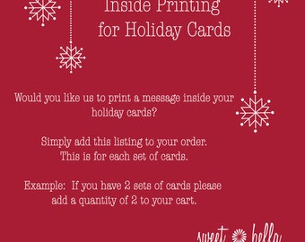 Inside Printing for Holiday Cards