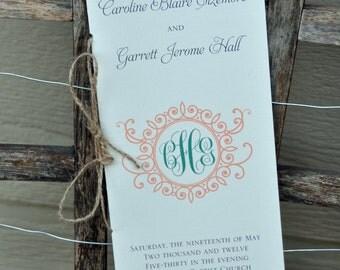 100 Vintage Booklet-Styled Wedding Programs