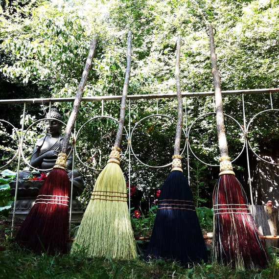 Rustic Wedding Broom in your choice of Natural, Black, Rust or Mixed Broomcorn