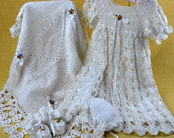 Blessed Christening Set Crochet Pattern PDF