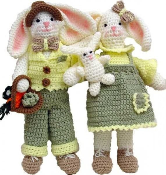Ernie And Esther Rabbits Crochet Pattern PDF